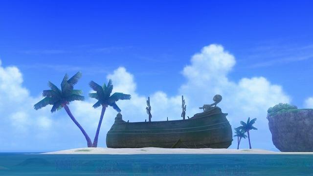 海賊船を発見するぷくみ