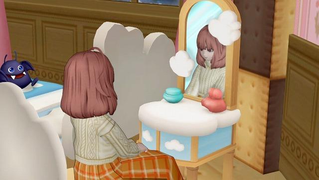 鏡でおめかしするぷくみ