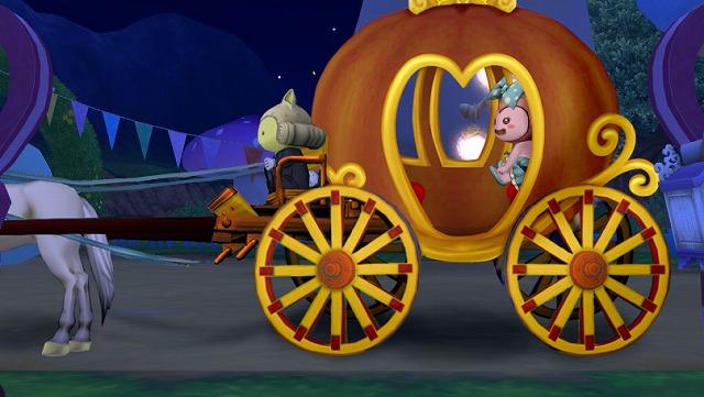 かぼちゃの馬車で出発1