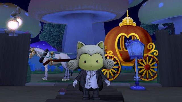 かぼちゃの馬車でお出迎え