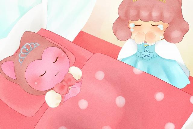 ぷくみが眠り、嘆き悲しむ王妃