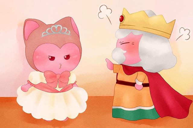 ぷくみに説教する王