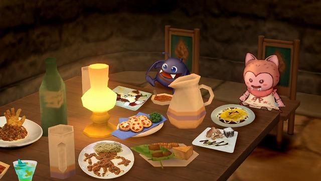 テーブルにたくさんの料理