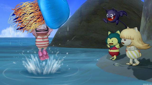 大クラゲを捕まえるぷくみ