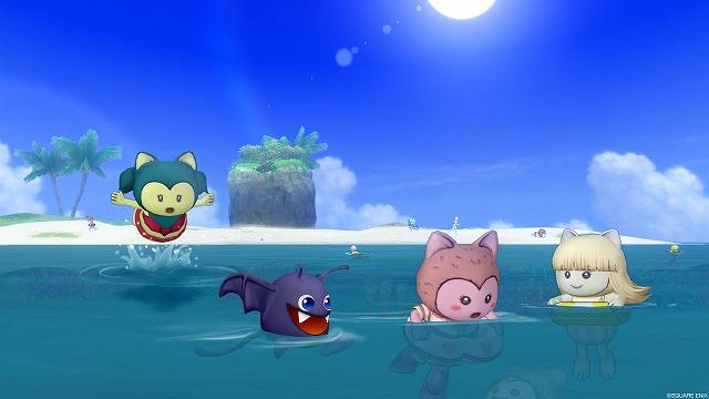 泳ぐぷくみ達1