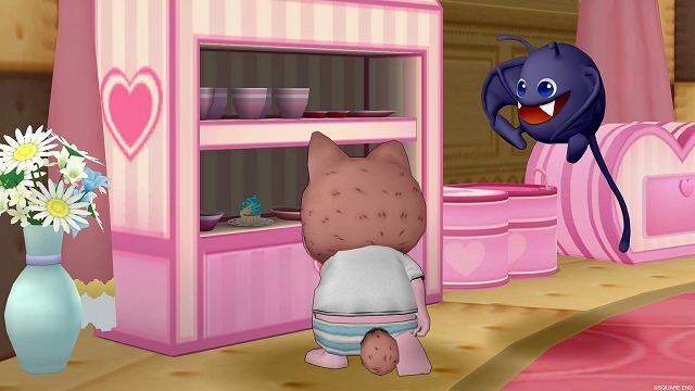 食器棚にケーキを隠すぷくみ