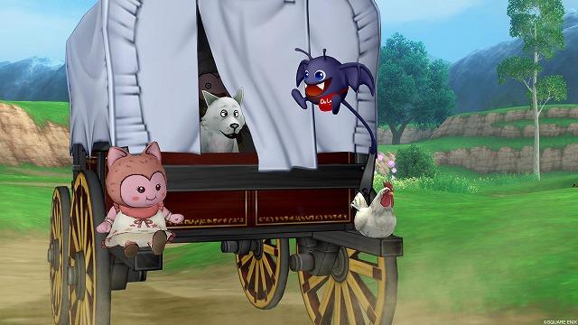 馬車に乗って旅をするぷくみ