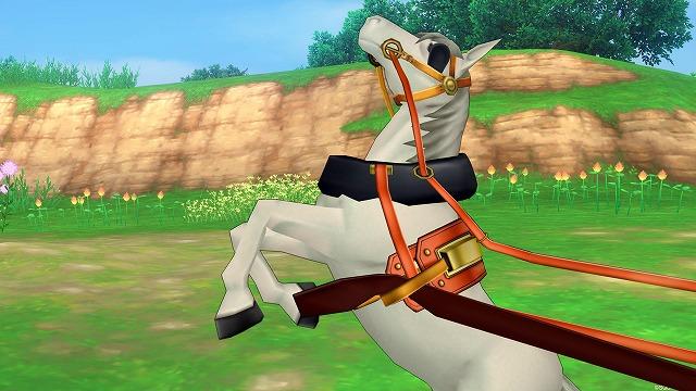 足をケガして暴れる馬